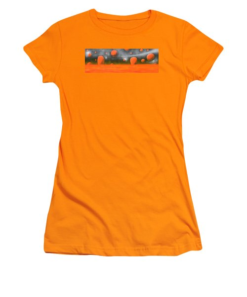 Orange Planet Women's T-Shirt (Junior Cut) by Tim Mullaney