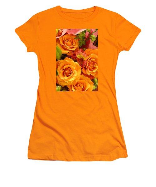 Orange Roses Women's T-Shirt (Athletic Fit)