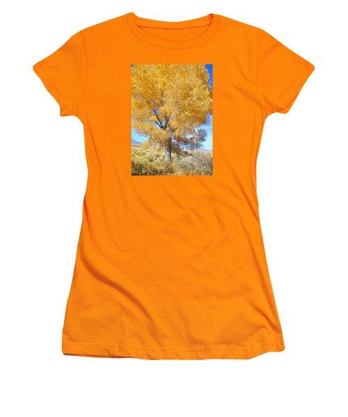 Orange Serenade Women's T-Shirt (Junior Cut) by Marilyn Diaz