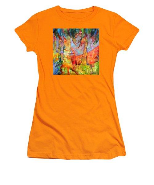 Palm Jungle Women's T-Shirt (Athletic Fit)
