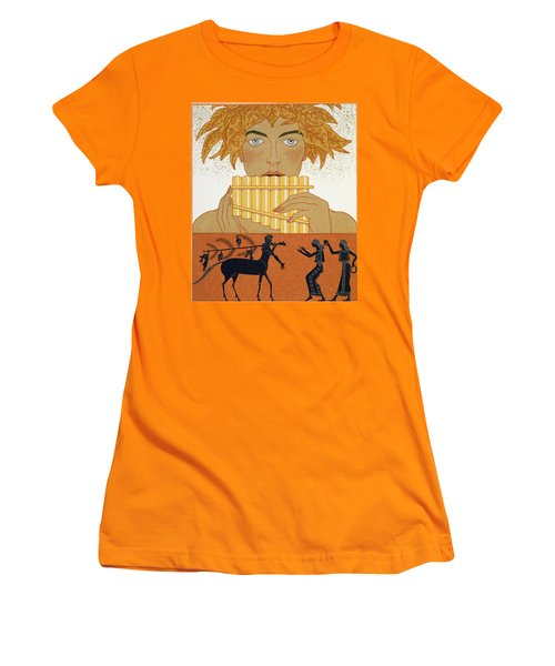 Pan Piper Women's T-Shirt (Junior Cut) by Georges Barbier
