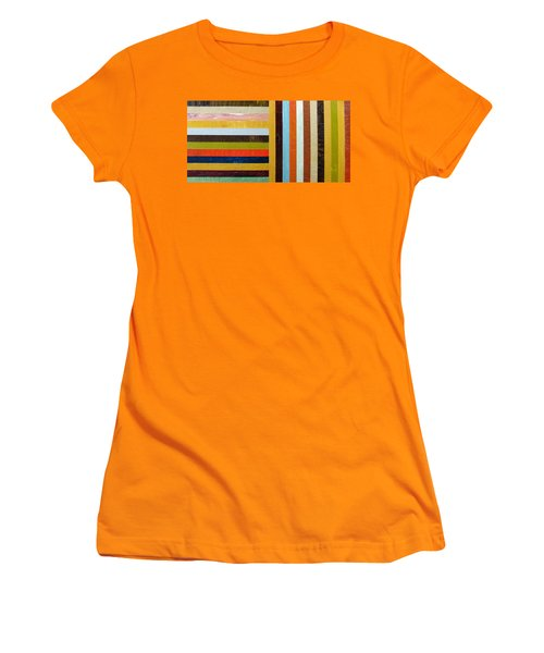 Panel Abstract L Women's T-Shirt (Athletic Fit)