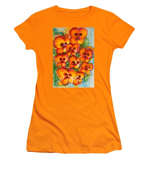 Pansies Love Us Women's T-Shirt (Athletic Fit)