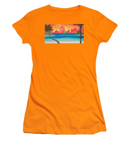 Paradise Panorama Women's T-Shirt (Athletic Fit)