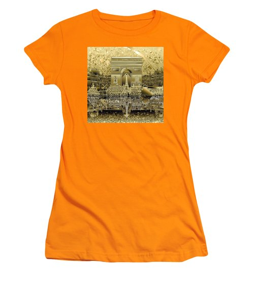 Paris Skyline Landmarks 4 Women's T-Shirt (Athletic Fit)