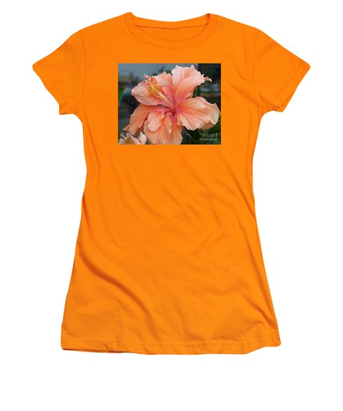 Women's T-Shirt (Junior Cut) featuring the photograph Peach And Cream by Lingfai Leung