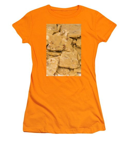 Peanut Brittle Closeup Women's T-Shirt (Athletic Fit)