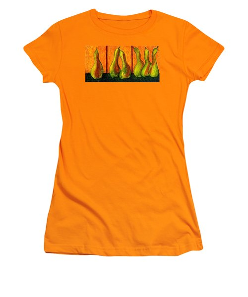 Pear Whimsy Women's T-Shirt (Junior Cut) by Bellesouth Studio
