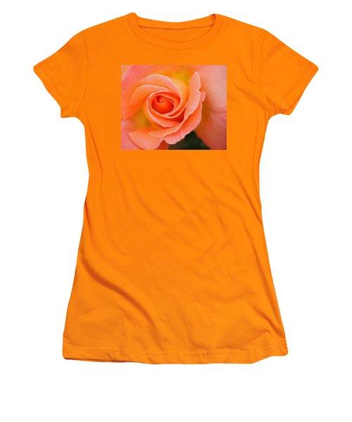 Women's T-Shirt (Junior Cut) featuring the photograph Petals Of Peach by Rowana Ray