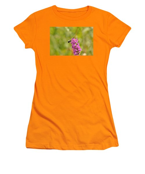 Pink And Gold Women's T-Shirt (Athletic Fit)