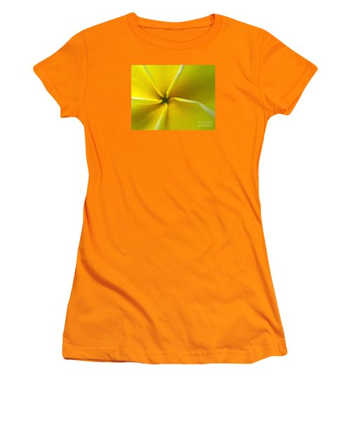 Pinwheel Plumeria Women's T-Shirt (Athletic Fit)