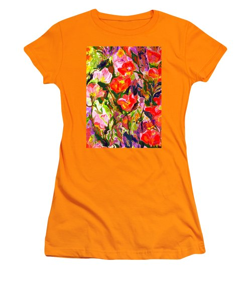 Poppies Women's T-Shirt (Junior Cut) by Beth Saffer