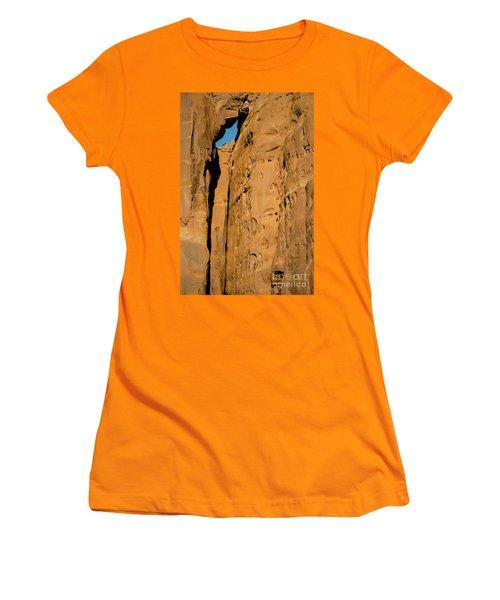 Women's T-Shirt (Junior Cut) featuring the photograph Portal Through Stone by Jeff Kolker