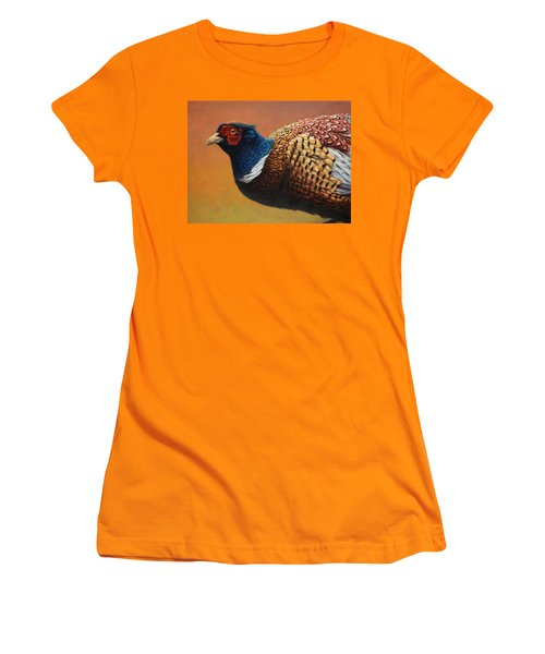 Portrait Of A Pheasant Women's T-Shirt (Athletic Fit)