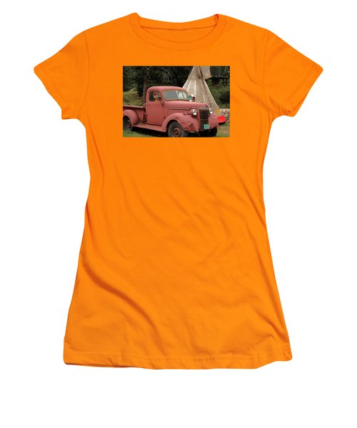 Women's T-Shirt (Junior Cut) featuring the photograph Postcard From Yesterday by Lynn Sprowl