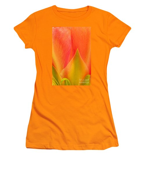 Women's T-Shirt (Junior Cut) featuring the photograph Prickly Pear Flower Petals Opuntia Lindheimeni In Texas by Dave Welling