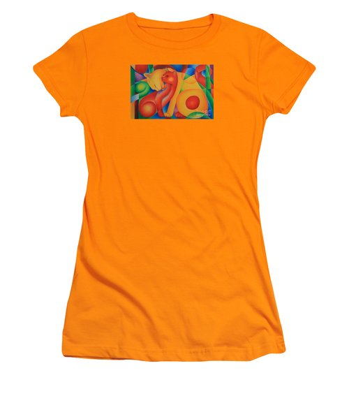 Primary Cats Women's T-Shirt (Junior Cut) by Pamela Clements