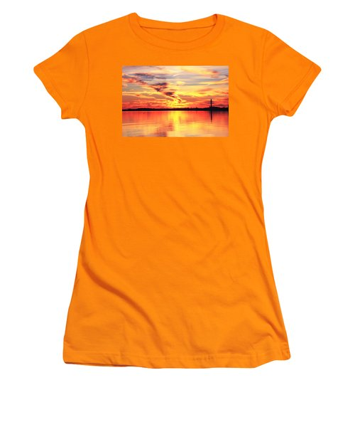 Provincetown Harbor Sunset Women's T-Shirt (Junior Cut) by Roupen  Baker