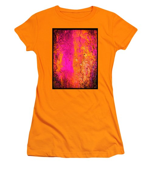 Women's T-Shirt (Junior Cut) featuring the digital art Psychedelic Flashback - Late 1960s by Absinthe Art By Michelle LeAnn Scott