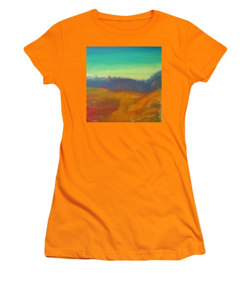 Women's T-Shirt (Junior Cut) featuring the painting Quiet by Keith Thue