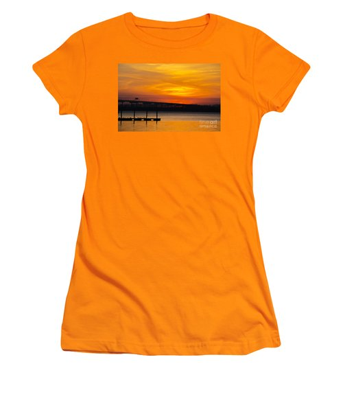Women's T-Shirt (Junior Cut) featuring the photograph Orange Blaze by Dale Powell