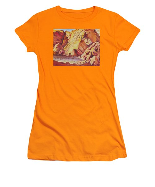 Women's T-Shirt (Junior Cut) featuring the painting Red Rocks by Michele Myers