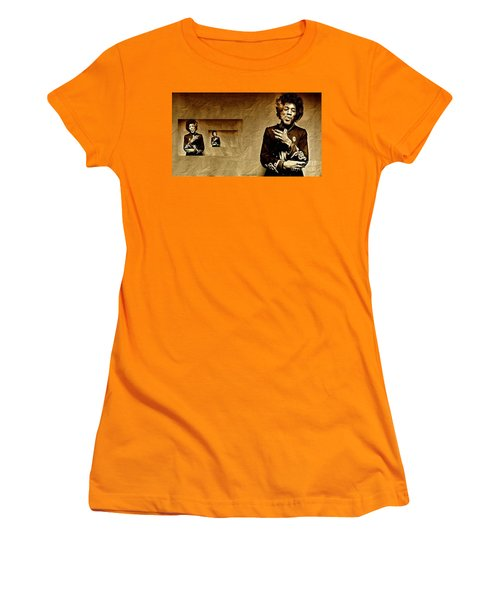 Reflecting On Jimi Hendrix  Women's T-Shirt (Athletic Fit)