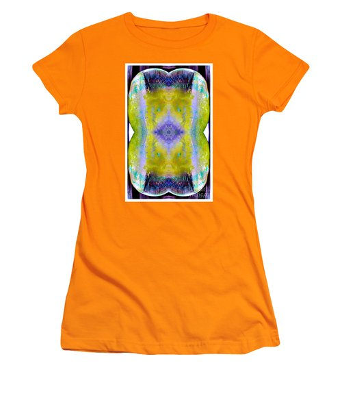 Women's T-Shirt (Junior Cut) featuring the photograph Reflections In Ice by Nina Silver