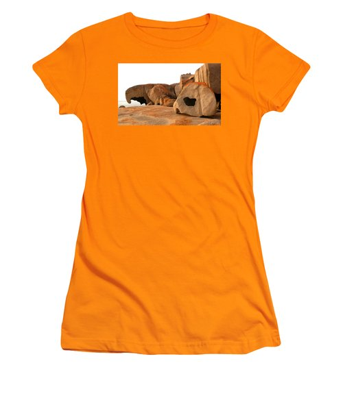Women's T-Shirt (Junior Cut) featuring the photograph Remarkable Rocks by Evelyn Tambour
