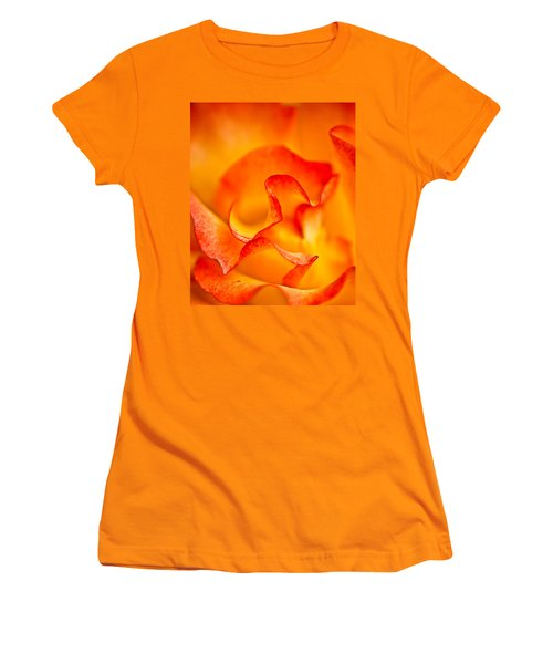 Rose Petals Closeup Women's T-Shirt (Athletic Fit)