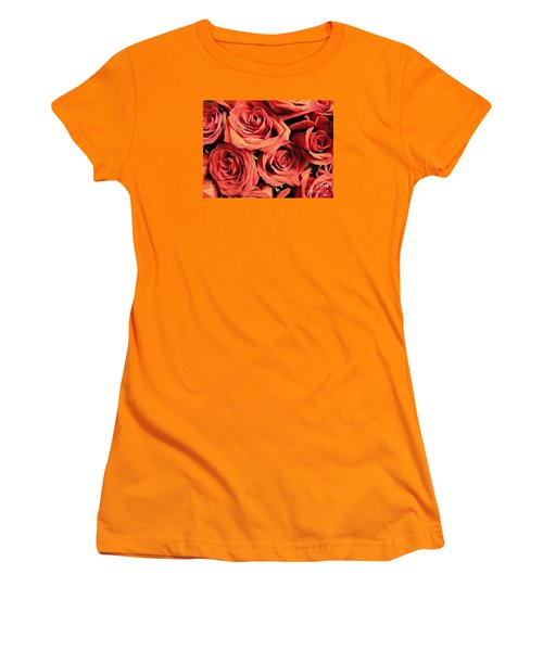 Roses For Your Wall  Women's T-Shirt (Junior Cut) by Joseph Baril