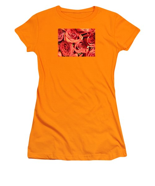Roses On Your Wall Women's T-Shirt (Junior Cut) by Joseph Baril