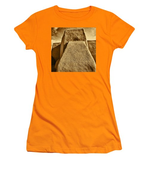 Women's T-Shirt (Junior Cut) featuring the photograph San Francisco De Asis Mission Church Taos by John Hansen