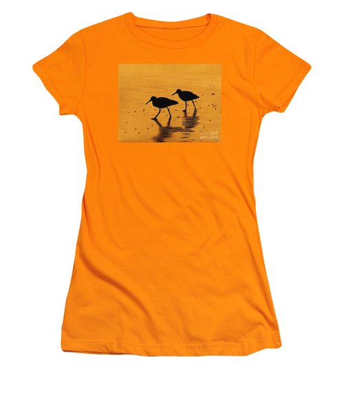 Sandpipers - At - Sunrise Women's T-Shirt (Athletic Fit)