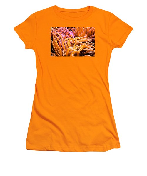 Sea Anemone  Women's T-Shirt (Junior Cut) by Swank Photography