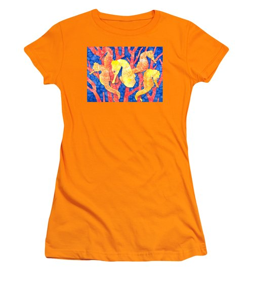 Seahorse Heaven Women's T-Shirt (Athletic Fit)