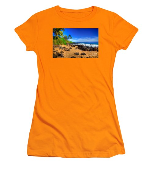 Secret Beach Maui Women's T-Shirt (Athletic Fit)