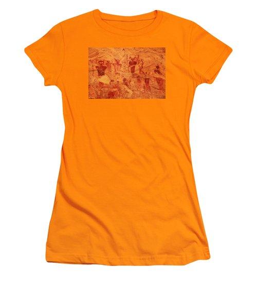 Sego Canyon Rock Art Women's T-Shirt (Junior Cut) by Alan Vance Ley