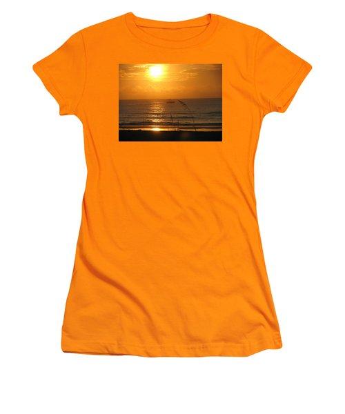 Shrimp Boat Sunrise Women's T-Shirt (Athletic Fit)
