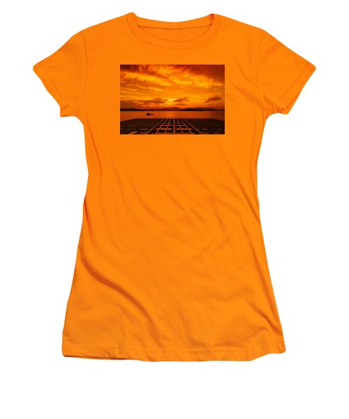 Skies Ablaze - One Women's T-Shirt (Athletic Fit)