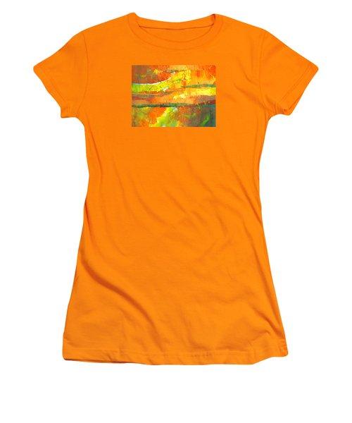 Strata Women's T-Shirt (Junior Cut) by Lynda Hoffman-Snodgrass