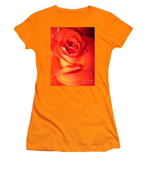 Sunkissed Orange Rose 10 Women's T-Shirt (Athletic Fit)