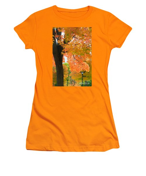Sunny Fall Day By David Lawrence Women's T-Shirt (Athletic Fit)