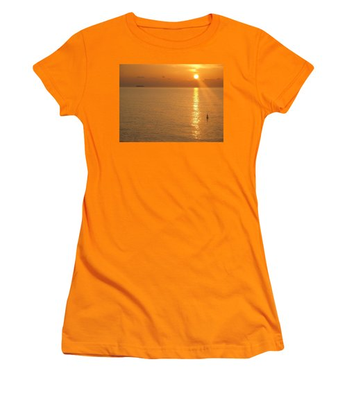 Women's T-Shirt (Junior Cut) featuring the photograph Sunrise At Sea by Photographic Arts And Design Studio
