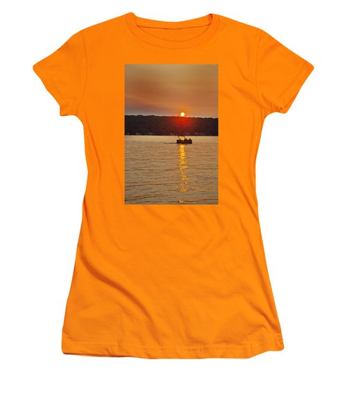 Boating Into The Sunset Women's T-Shirt (Athletic Fit)