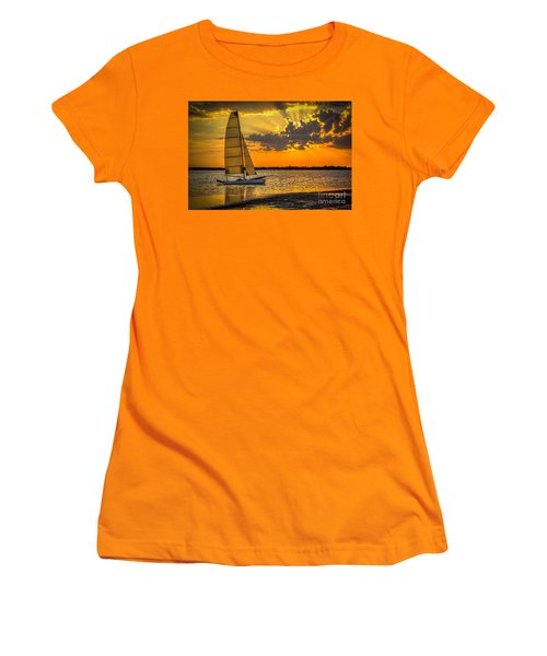 Sunset Sail Women's T-Shirt (Junior Cut) by Marvin Spates