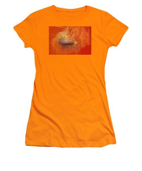 Tangerine Burst Women's T-Shirt (Athletic Fit)