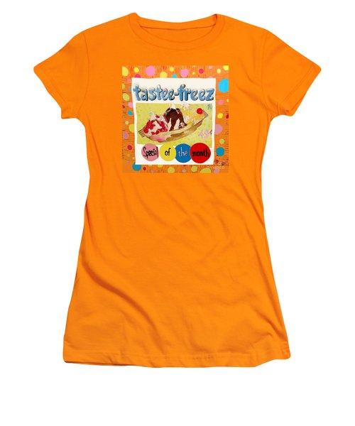 Tastee Freez Women's T-Shirt (Junior Cut) by Beth Saffer