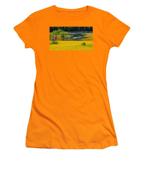Tennessee Black-eyed Susan Field Women's T-Shirt (Athletic Fit)
