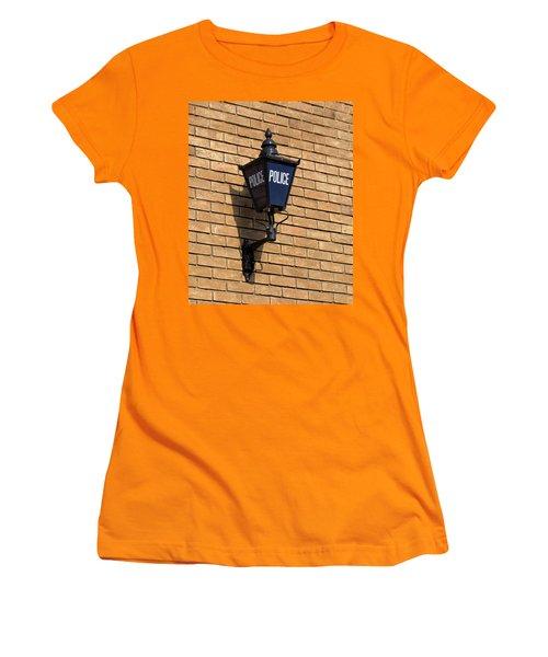 Women's T-Shirt (Junior Cut) featuring the digital art The Blue Lamp by Ron Harpham